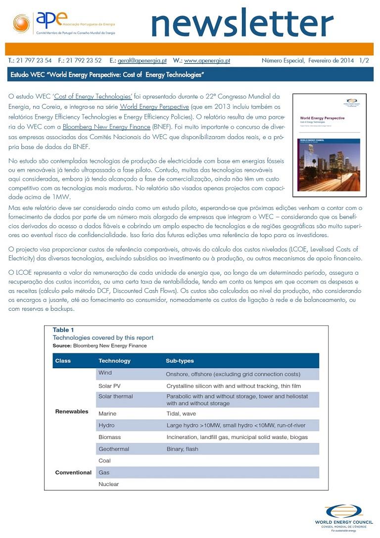 Newsletter APE Especial Fevereiro 2014
