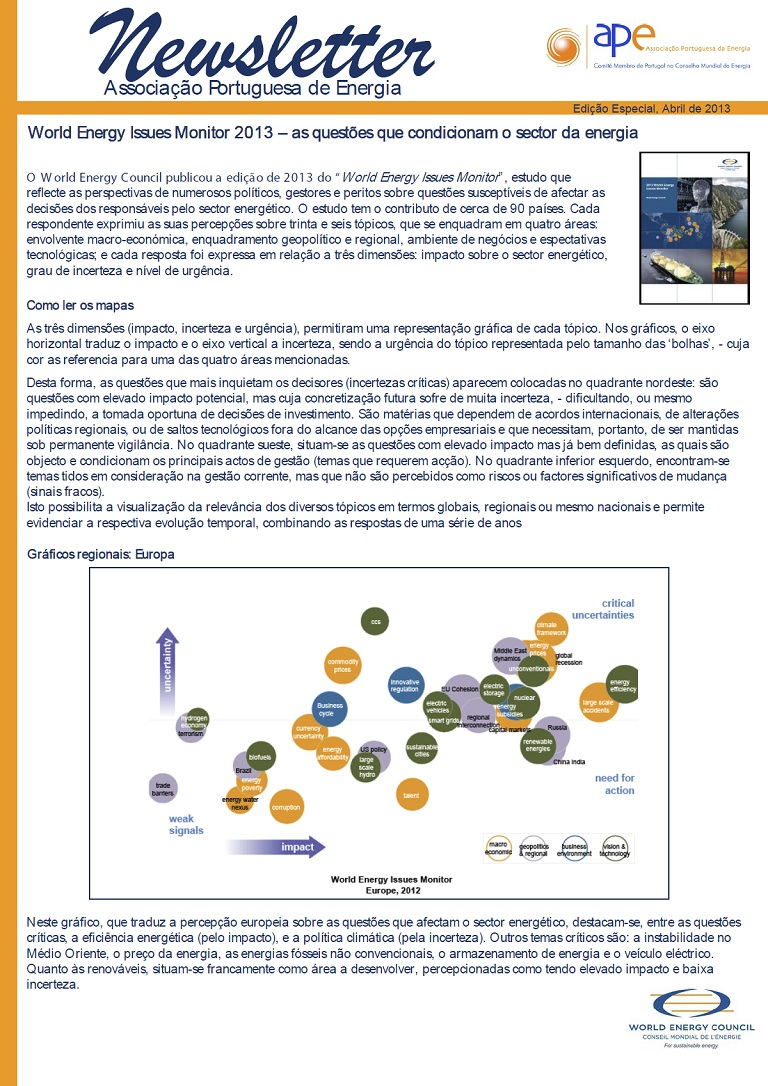 newsletter APEEspecial issues_Abril 2013