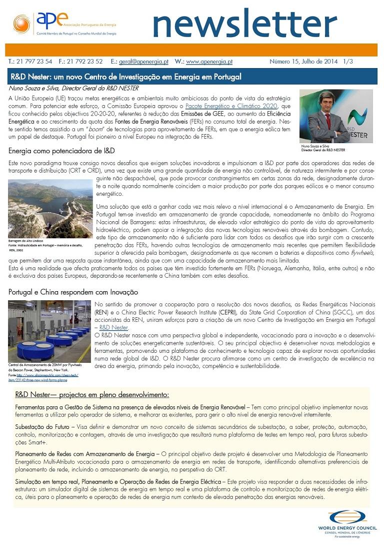 Newsletter APE numero 15_Julho 2014