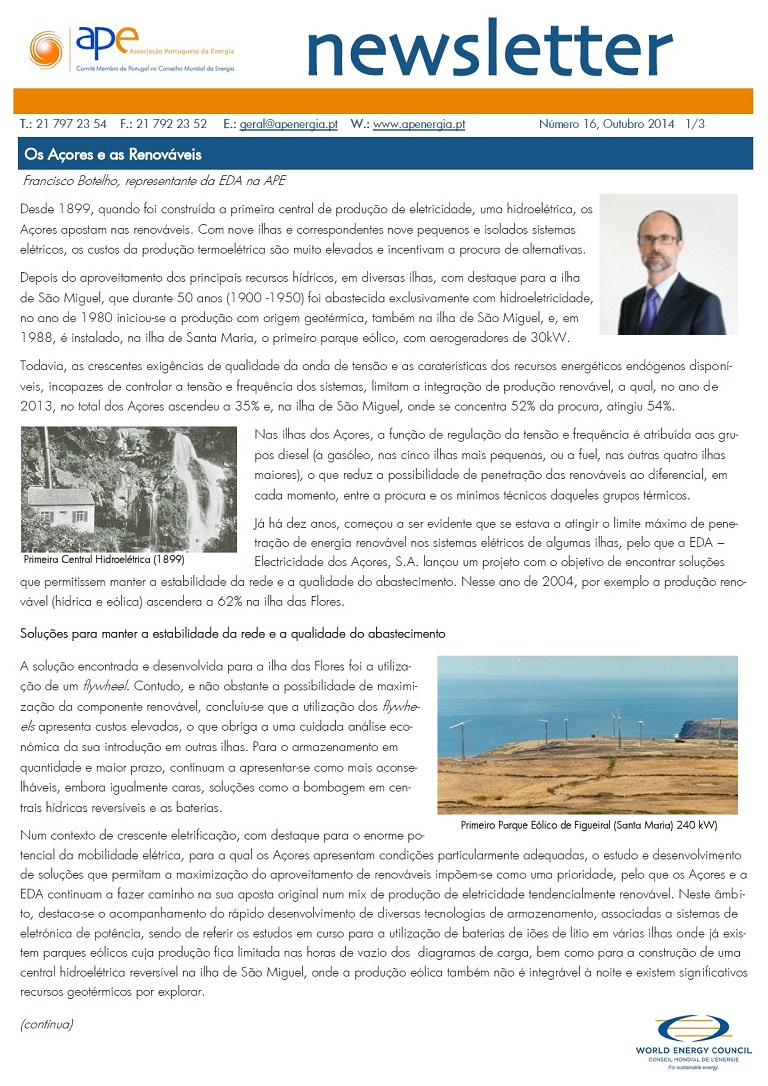 Newsletter APE numero 16_Setembro 2014