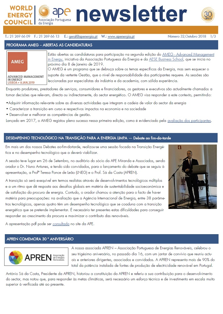 Newsletter APE numero 32_outubro 2018