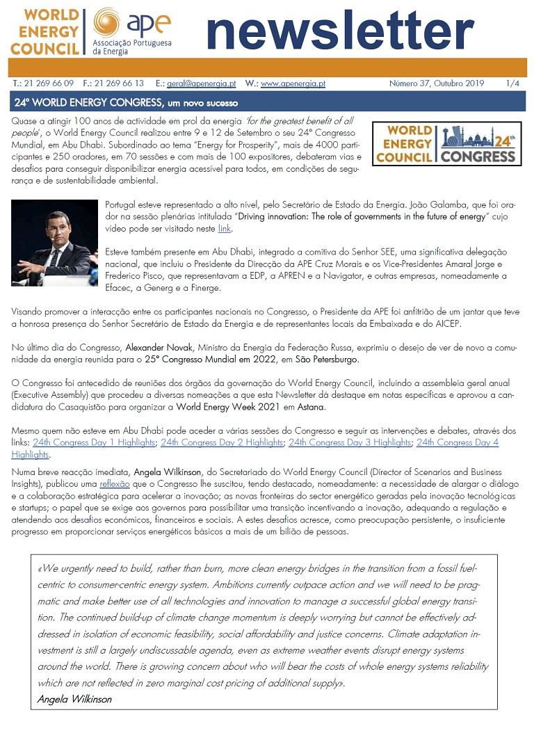 Newsletter APE numero 37_outubro 2019