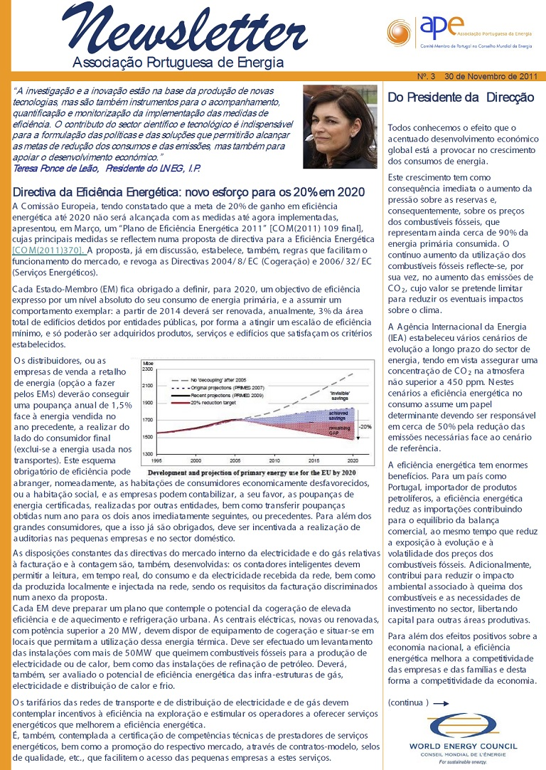 newsletter APE numero 3 nov 2012