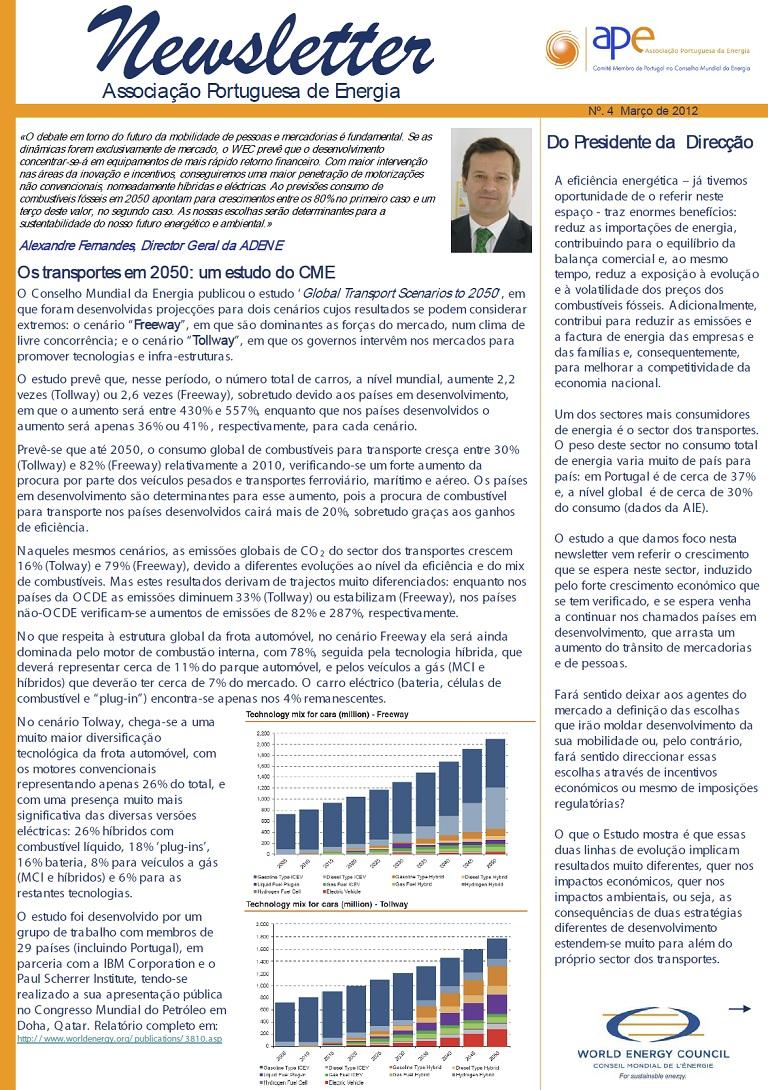 newsletter APE nº 4 Março 2012